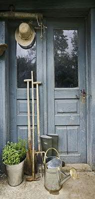 Klocke Textilbanner Banner - Thema: Frühling/Sommer - Gartentür - 180cmx90cm - zum Hängen & Dekorieren