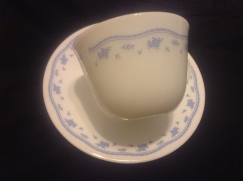 Corelle Discontinued Morning Blue Pattern Coffee Cup, Closed Handle Cup, Cup Only