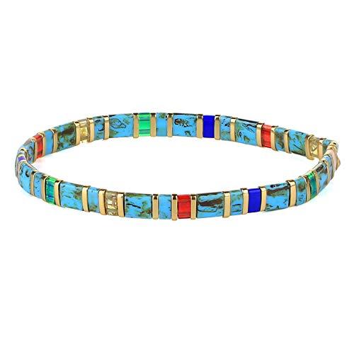 KANYEE Bracelets élastique pour Femme Bracelets D'amitié Bracelets Perlés Tila Bracelets Breloques Mode De Manchette pour Cadeaux d'anniversaire – 8F