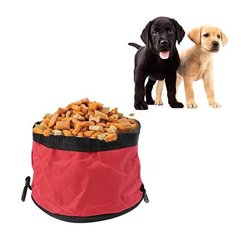 Pet Travel Portable Oxford Plegable de Tela Impermeable para Perros Bowl con...