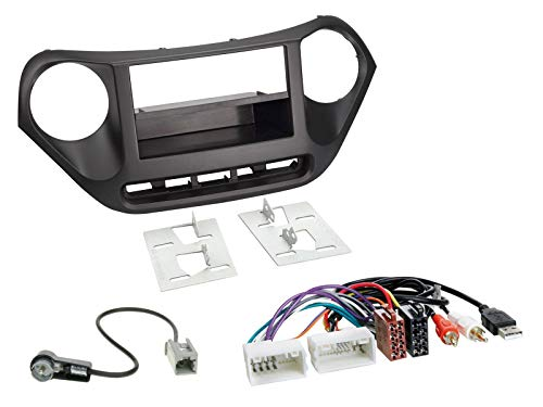 Radioeinbauset für DIN Autoradio in Hyundai i10 (ab 2013) - AUX, USB