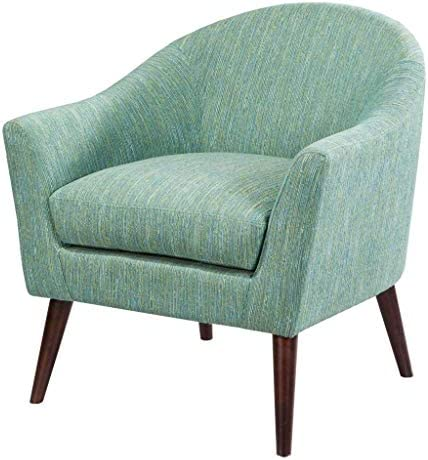 Best Madison Park Grayson Accent Chairs - Hardwood, Birch, Textured Fabric Living Room Chairs - Pale Gree