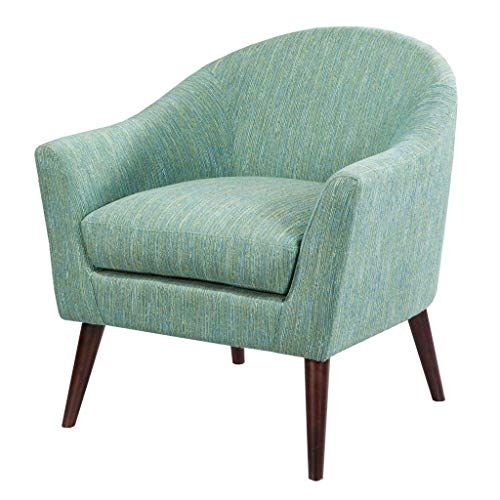Madison Park Grayson Accent Chairs - Hardwood, Birch, Textured Fabric Living Room Chairs - Pale Green, Modern Classic Style Living Room Sofa Furniture - 1 Piece Rounded Back Bedroom Chairs Seats