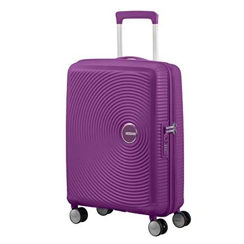 AMERICAN TOURISTER Soundbox - Spinner S Espandibile Bagaglio a Mano, Spinner S (55 cm - 41 L), Viola (Purple Orchid)