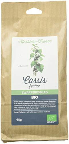 L'Herbier de France Cassis Feuilles Bio Sachet Kraft 40 g