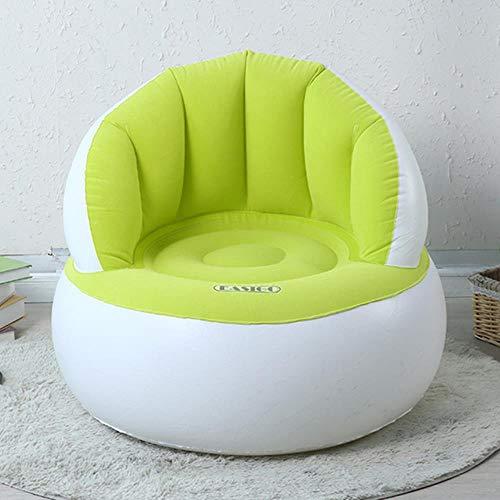Clkdasjd aufblasbares rundes Sofa, beflockt, PVC, Luftstühle Erwachsene Grün