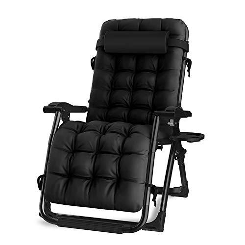 Donyit Faltbare Liege im Freien Liegestuhl Sessel mit Wattepad Terrasse Gartenmöbel Stuhl Bett Chaise Lounge Relaxer Chair