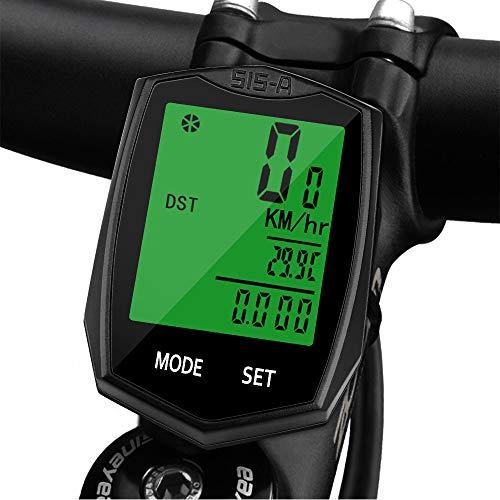 Vegena Cuentakilómetros para Bicicleta, Velocímetro para Bicicleta, Ciclismo, Velocímetro Impermeable Inalámbrico para...