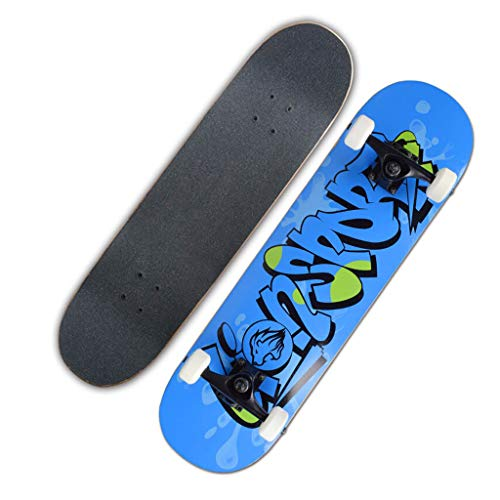 Best Price YQQ-MOTION Short Board Profession Skateboards Beginner Adult Kid Girl Boy Teen4 Wheel Bru...
