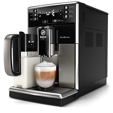 Saeco súper automática SM5479/10 Cafetera (Independiente, Máquina Espresso, 1,8 L, Granos, café molido, Molinillo Integrado, Negro, Acero Inoxidable), 1850 W, 1.8 litros