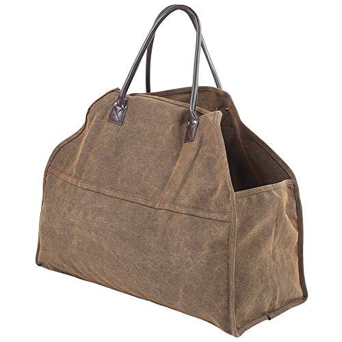 Accessoires de cheminée portable Sac de bois de chauffage, sac de transport de bois de chauffage résistant à lusure Support de bois de chauffage, support de bûches de bois de chauffage