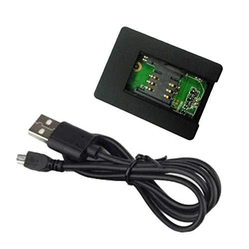 KoelrMsd Plástico Moldeado Negro Funciones asombrosas Mini Tarjeta SIM gsm N9 Respuesta automática de 2 vías y marcación de Audio Monitor de Voz Cámara DV
