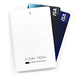 """[Thin but Powerful, Card Size and Light Weight] - 0.25"""" x 3.8"""" x 2.5"""", Only 0.15 lbs. Perfect for every day use. Take it with you for one extra battery charge for most phones. [Dual Built-in Charging Cables, i-Products and Micro USB] - No need to tak..."""
