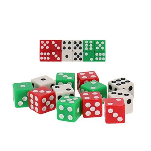 EUROXANTY® Dados de Colores | Dados con Puntos | Juegos de Azar | Juegos de Mesa | Multitud de Juegos | Dados | Dados opacos (12 Unidades)