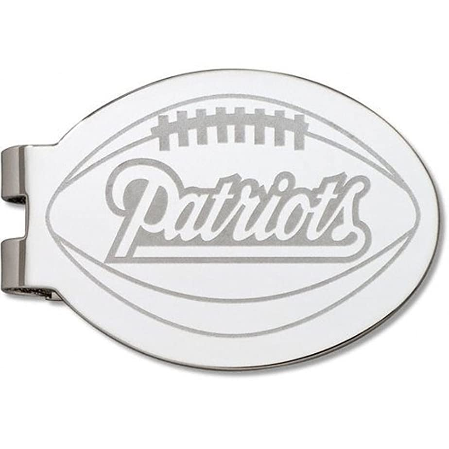 電卓勤勉な傾向NFL - New England Patriots Silver Plated Laser Engraved Money Clip【並行輸入】