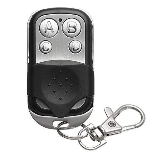Generic Elektrischer Garagentorschlüssel aus Metall mit Vier Knöpfen Universeller Zugangskontrollschlüssel Schwarz