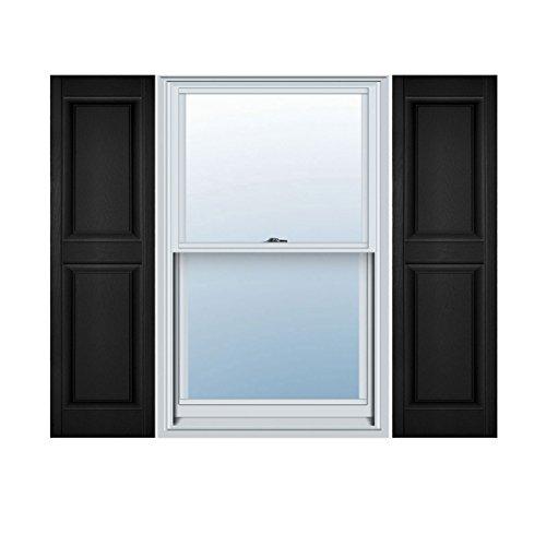 Ekena Millwork LP2C14X05300BL Custom Two Equal Panels, Raised PanelShutter (Per Pair)14 1/2