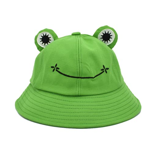 Sombrero de Rana Gorro de Pescador de Algodón Verano Sombrero de Pescador Sombrero para Sol Plegable Sombrero de Cubo de Rana Gorro Sombrero Pescador Rana de Algodón Verano para Adulto al Aire Libre