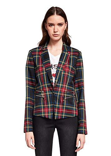Gaudi Giacca Scozzese Jacket Jeans Donna Check Black (40)