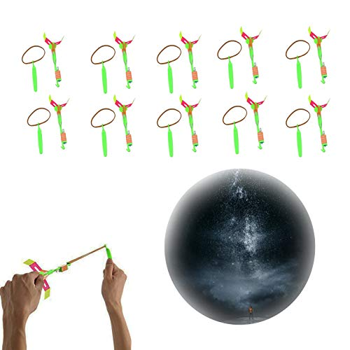 mmmn Luminous Arrow Helicopters Birthday Party Supplies Amazing Arrow Helicopters Rocket copters Flying Toys Rocket copters with LED Lights Rocket launchers for Kids (A)