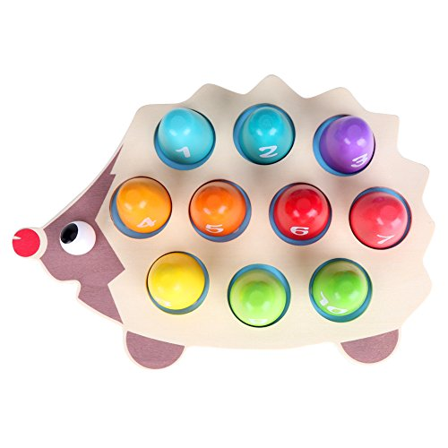 Hztyyier Play Brainy Fun, Math Educational Easy Number Game Toddler Puzzle 3D Baby Animal Hedgehog Puzzle Learning Toy for Baby, Toddler, and Kids