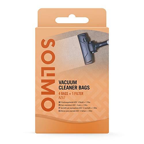 Marca Amazon - Solimo Bolsas para aspirador AZ67, Compatible con los aspiradores Bosch y Siemens, 4 Bolsas + 1 Filtro