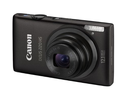 Canon IXUS 220 HS - Cámara Digital Compacta 12.1 MP (2.7 Pulgadas LCD, 5X Zoom Óptico) -...