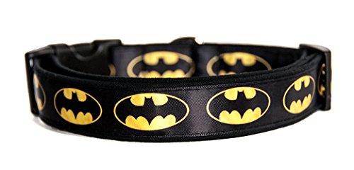 MasTazas Batman Logo DC Comics Hundehalsband Handgemachte Größe M Ohne Hundeleine Dog Collar Handmade