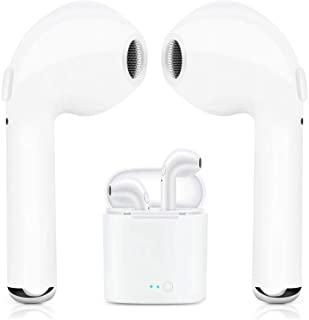 Bluetooth Wireless Earbuds Bluetooth 5.0 Earphone Hi-Fi Sound Bluetooth Headset with Mini Charging Case 24 Hrs Extended Playtime Pop-Up Pairing for All Smartphones - White01