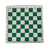 Zyj-Chess Ajedrez de Viaje Vinilo Torneo de Ajedrez de la Junta Junta magnética Juegos educativos Color al Azar de los niños de ajedrez Tablero de ajedrez Verde Juego de ajedrez