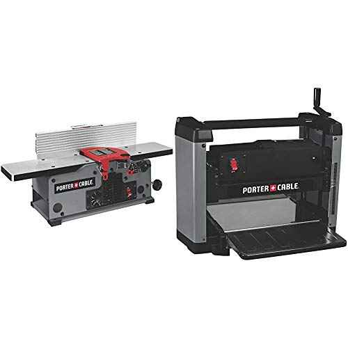 PORTER-CABLE Benchtop Jointer, Variable Speed, 6-Inch (PC160JT) & Thickness Planer, 12-Inch (PC305TP)