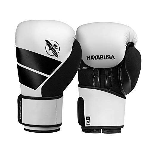 professional Hayabusa S4 Boxing Gloves for Men and Women – White, 16 oz.