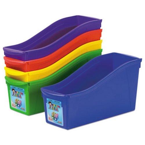 Livre imbriqués, bacs, 4 3/4 x 12 5/8 x 7, Lot de 5 couleurs, plastique, vendu par 5 chaque