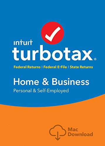 [Old Version] TurboTax Home & Business + State 2018 Tax Software [MAC Download] [Amazon Exclusive]