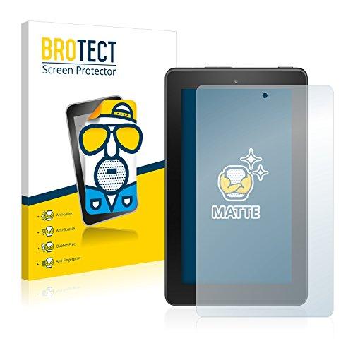BROTECT 2X Entspiegelungs-Schutzfolie kompatibel mit Amazon Fire 7 2016 Displayschutz-Folie Matt, Anti-Reflex, Anti-Fingerprint