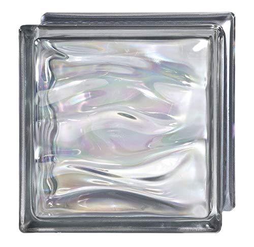 Bormioli Rocco - 6 unidades Cristal ondulado para ladrillo, cristal transparente, brillante,...