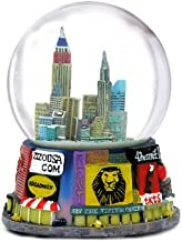 ZIZO USA New York City Broadway Snow Globe (3.5 inches Tall) Souvenir Broadway Theater Shows Snow Globes