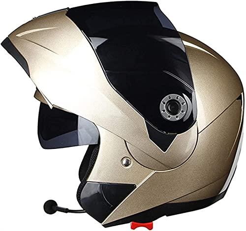 YCRCTC Modular Casco Moto Integral, ECE Homologado Abatible Hombre Adultos Anti-CollisioneCasco,Doble Visera,Transpirable Universal,Ventilación Ajustable (Color : D, Size : XXL)