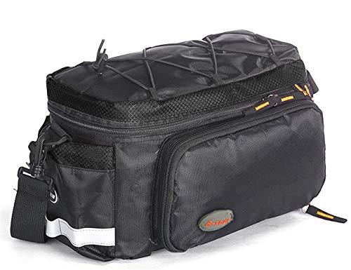 NORSENS Fahrradtasche Wasserdicht Gepäckträgertasche, Multifunktion Packtasche Rucksack, Mountainbike-Tragetasche Rücksitz-Hecktasche, für Radfahren