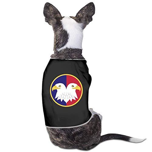 Florasun United States Army Reserve Command - Vestiti per cani e gatti di piccola taglia, colore: nero