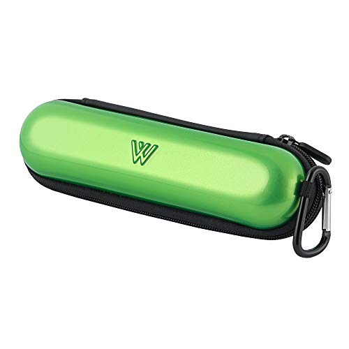 Wilken Electric Toothbrush Case   Universal Travel Case   Odor Free Thermoplastic Shell   Compatible with Oral B, Sonicare, and More Electric Toothbrush Brands (Green)