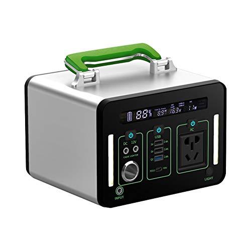 Generador Solar portátil con AC/DC Inverter, 135200mAh 500Wh Almacenamiento Suministro de Energía,...