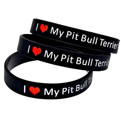 HSJ 10 Unids Amo A Mi Pit Bull Terrier Perfectamente Inspirar Fitness, Baloncesto, Búsqueda De Deportes, Ejercicio Y Tareas