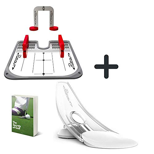 PuttOut Pressure Putt Trainer with Practice Putting Mirror Ultimate Set for Eyeline and Putting Alignment, Perfect for Putting Green Indoor, The Best Putting Aids for Golf with Exclusive E-Book