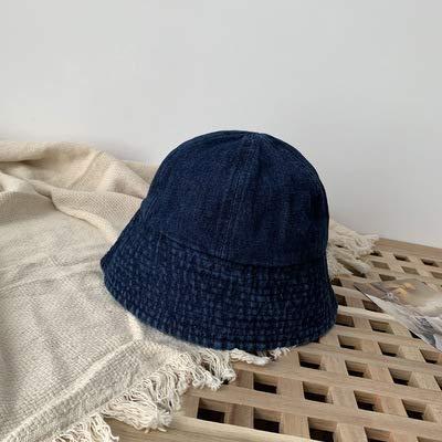 wtnhz Artículos de Moda Sombrero de Pescador de Mezclilla japonés de Celebridad Neta, Tendencia Coreana Informal de Moda de Todo fósforo para mujerRegalo de Vacaciones
