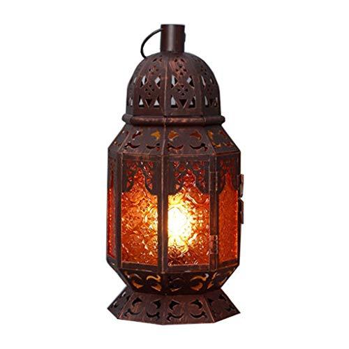 XILIN-1987 Lámparas de Escritorio Clásico Antiguo de Hierro Forjado lámpara de Mesa Sala de Estar Dormitorio cafetería casa Bar decoración lámpara de Mesa Lámpara de Mesa para niños (Size : S)