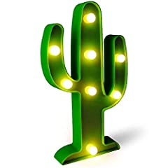 UNIQUE DESIGN:Green Cactus style is an ideal selection for Kids' Room,Bedroom, Gift, Party, Home Decorations EASY TO HANG:Integrated hanging hook holes for ease of display on wall - As an exciting prop for restaurants, bars, and photo booths, etc. Pr...