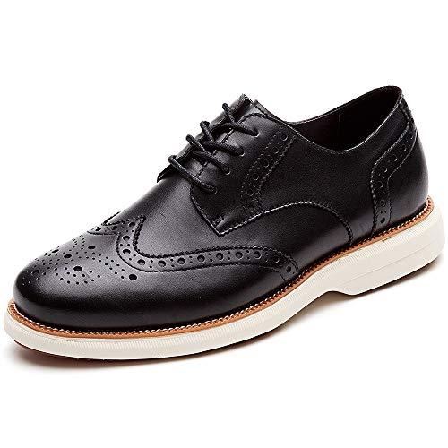 LAOKS Mens Hybrid Brogue Oxford  Lace-up Wingtip Dress Shoes  Black  Size 11.5 US