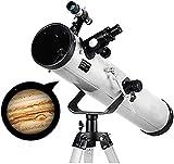 Telescopio de reflexión de Calibre de 125 mm, telescopios para astronomía, telescopio con trípode Ajustable y buscador de 5x24, astronomía, para Principiantes, Adultos y niños.
