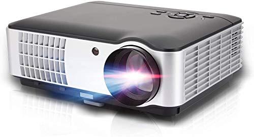 Oecrayy Proyector Portátil en Casa, 7000 lúmenes HD Soporta 1080P Multimedia Home Cinema Teatro, Proyector de Vídeo Portátil para...